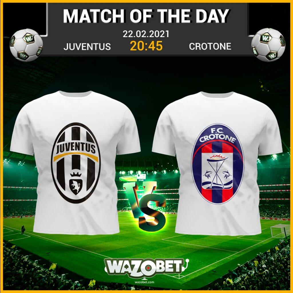 Juventus vs Crotone - Free Football Tips - (22/02/2021)