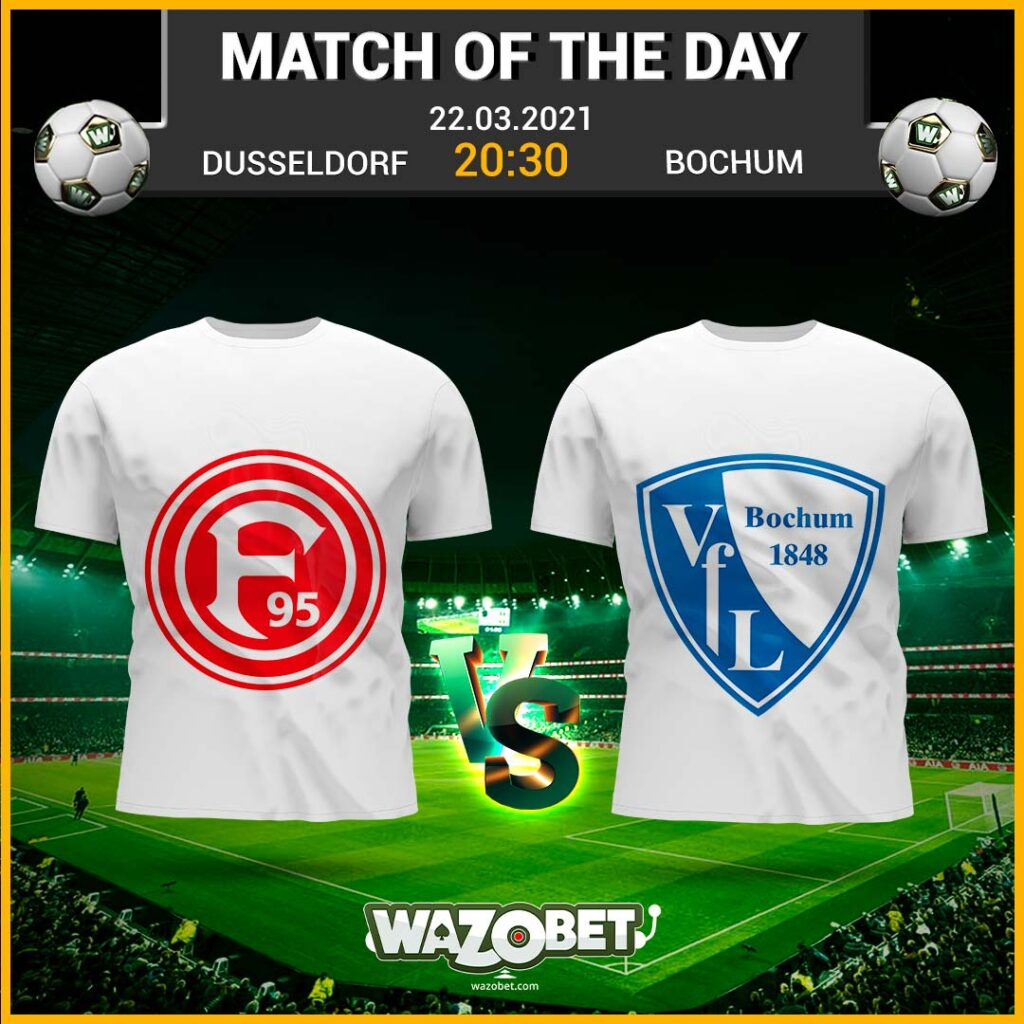 Düsseldorf vs Bochum - Free Football Tips - (22/03/2021)